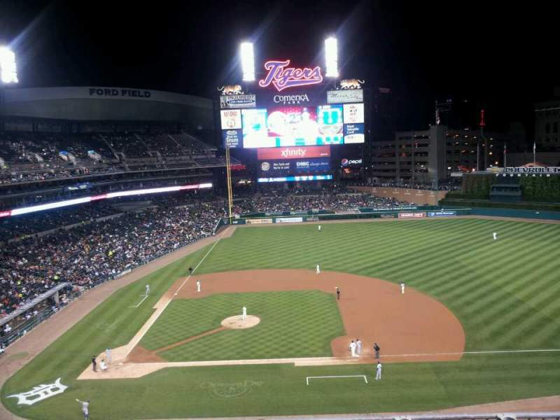 Seating view for Comerica Park Section 322 Row 1