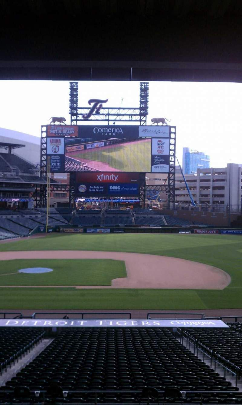 Seating view for Comerica Park Section 120 Row 30 Seat 1