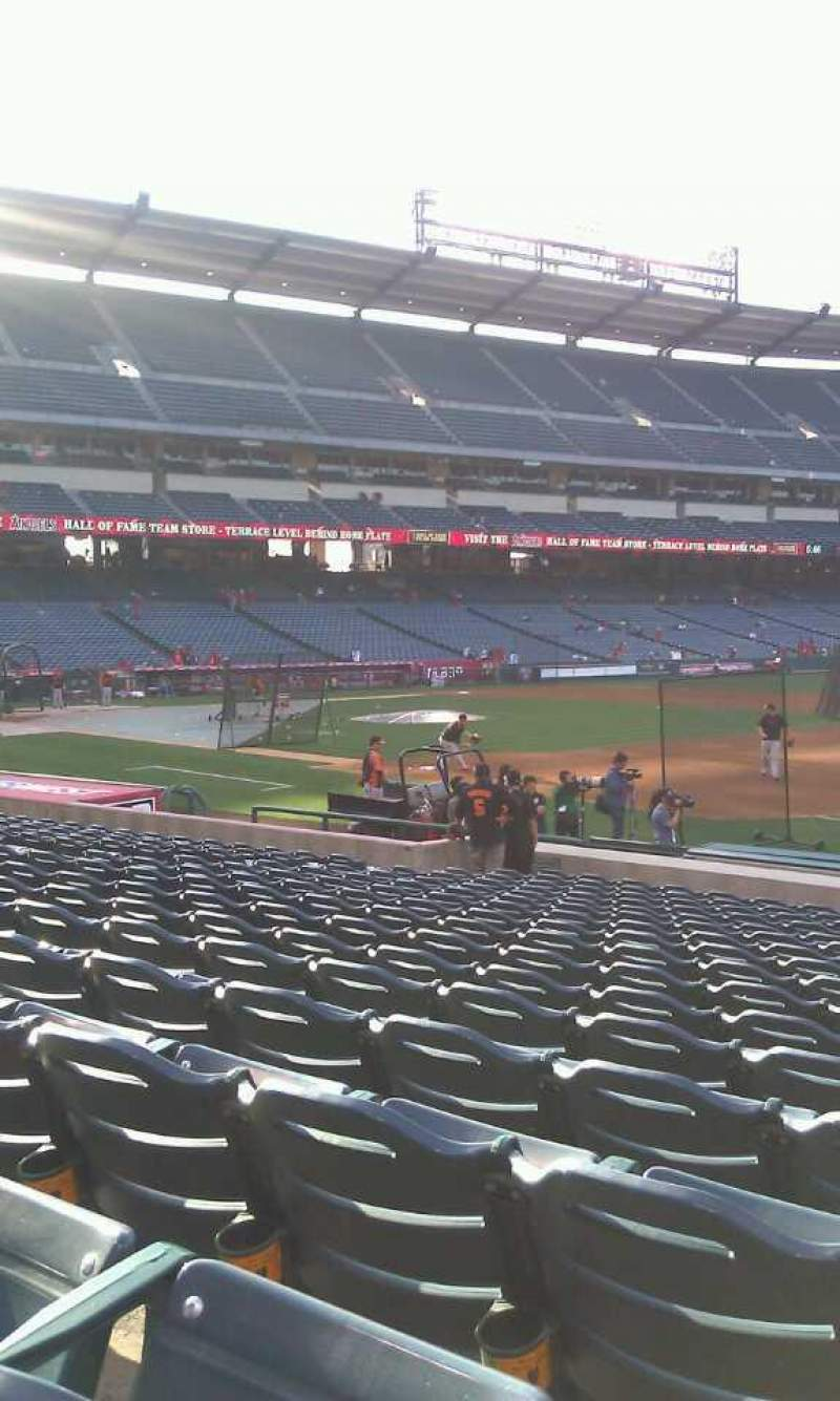 Seating view for Angel Stadium Section F127 Row S Seat 18