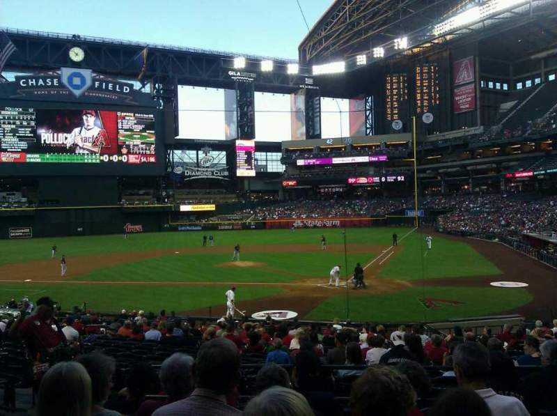 Seating view for Chase Field Section 125 Row 27 Seat 7
