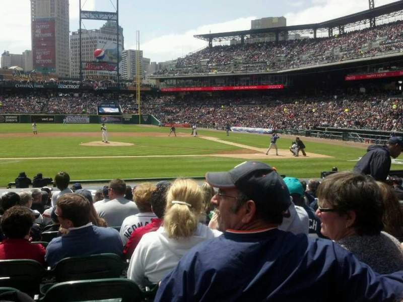 Seating view for Comerica Park Section 133 Row 19 Seat 5