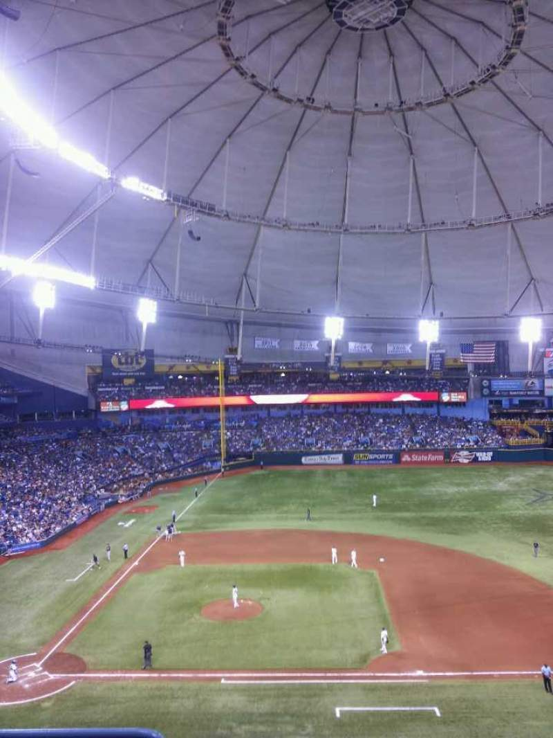 Seating view for Tropicana Field Section 312 Row D Seat 2