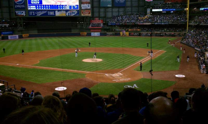 Seating view for Miller Park Section 220 Row 9 Seat 6