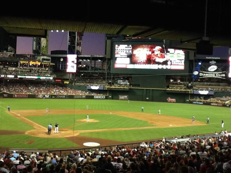 Seating view for Chase Field Section 120 Row w