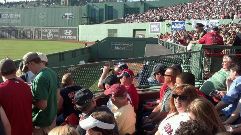 Seating view for Fenway Park Section Right Field Box 2 Row H Seat 12