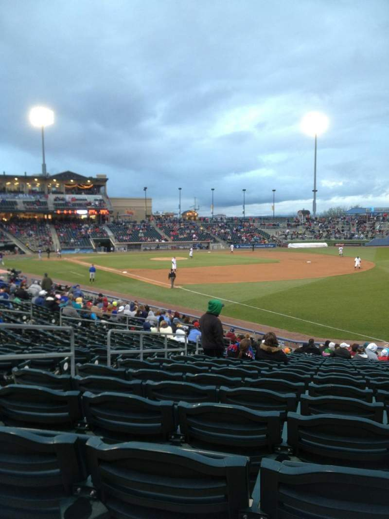 Seating view for Coca-Cola Park Section 102 Row Y Seat 5