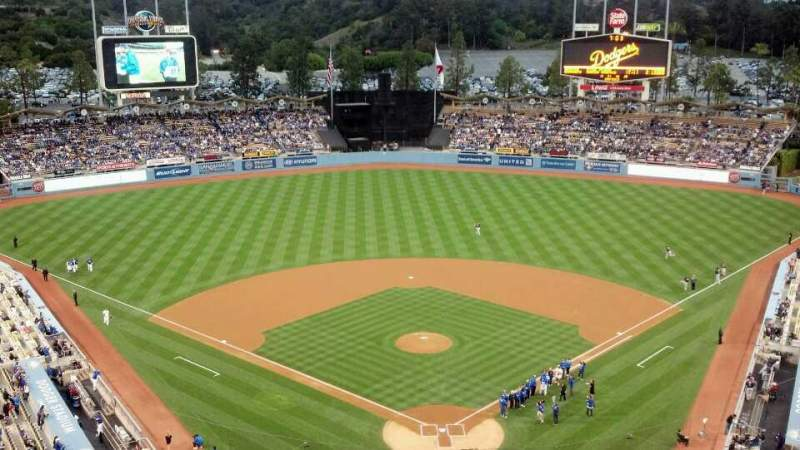 Seating view for Dodger Stadium Section 3TD Row A Seat 1,2,3,4