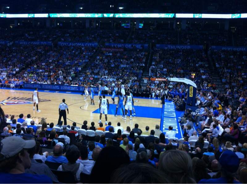 Seating view for Chesapeake Energy Arena Section 104 Row K Seat 14