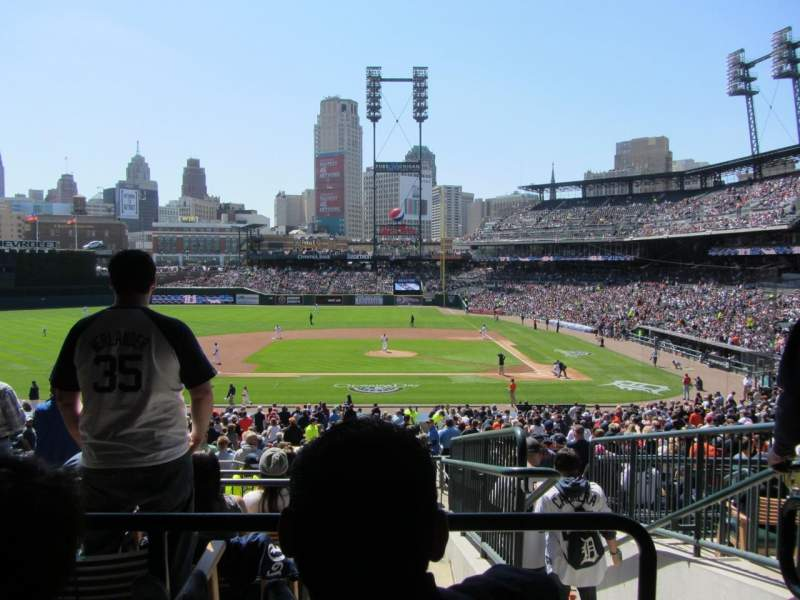 Seating view for Comerica Park Section 133 Row F Seat 3