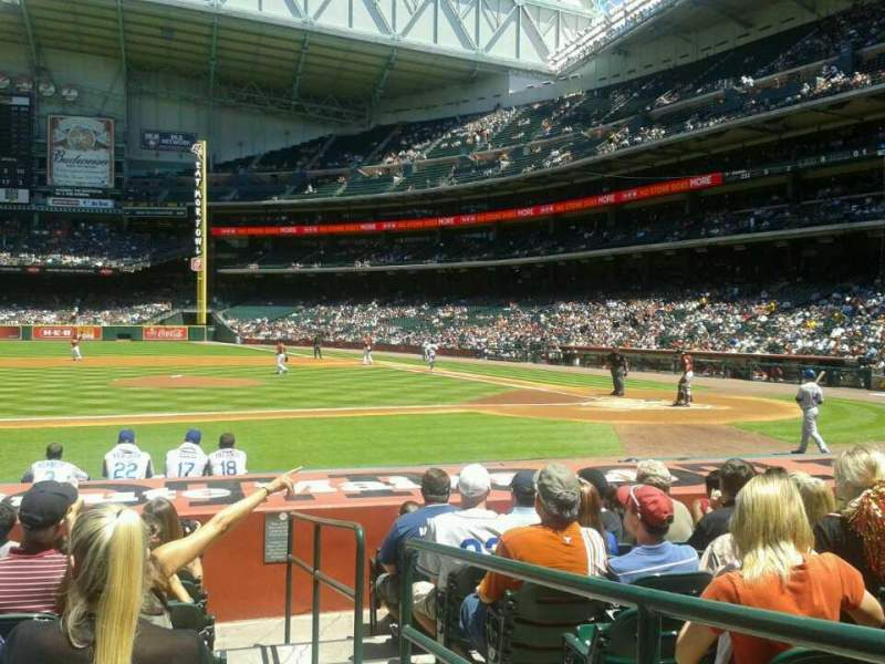 Seating view for Minute Maid Park Section 113 Row 13 Seat 16