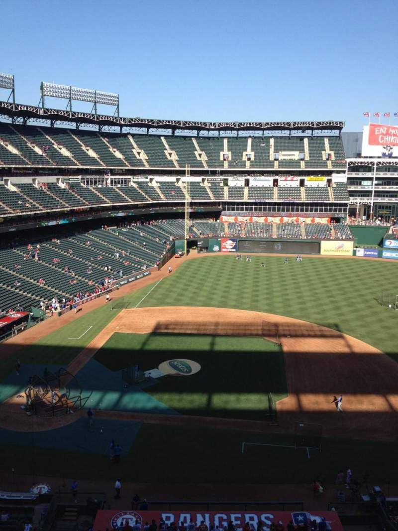 Seating view for Globe Life Park in Arlington Section 333 Row 1 Seat 2