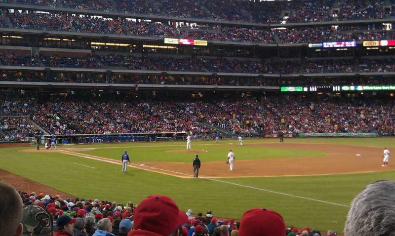 Seating view for Citizens Bank Park Section 110 Row 27 Seat 11