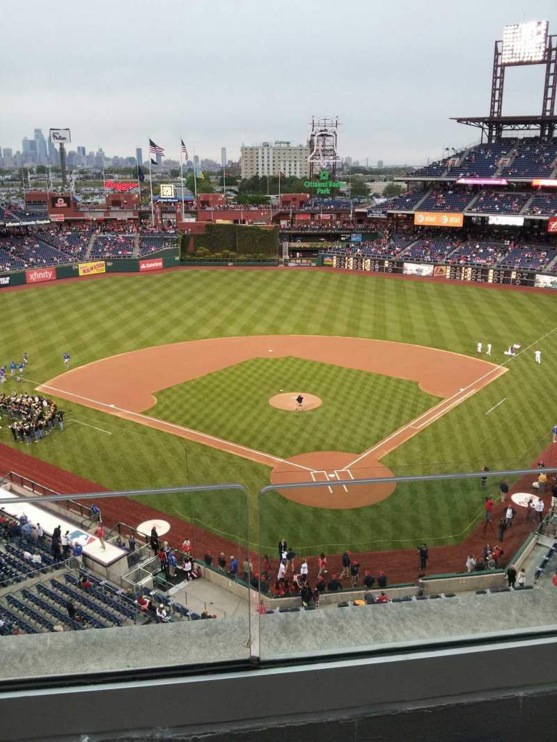 Seating view for Citizens Bank Park Section 321 Row 2 Seat 21