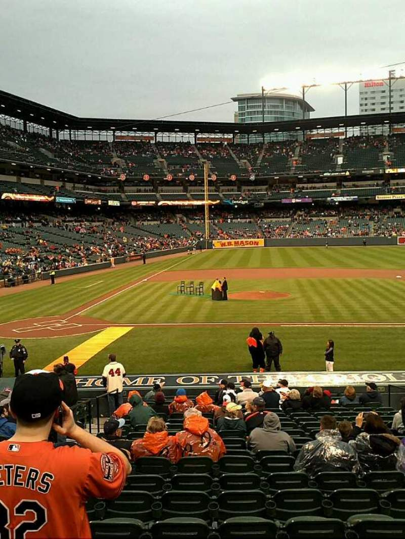 Seating view for Oriole Park at Camden Yards Section 24 Row 20 Seat 9