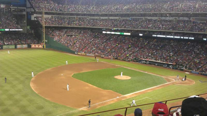 Seating view for Globe Life Park in Arlington Section 215 Row 6 Seat 10
