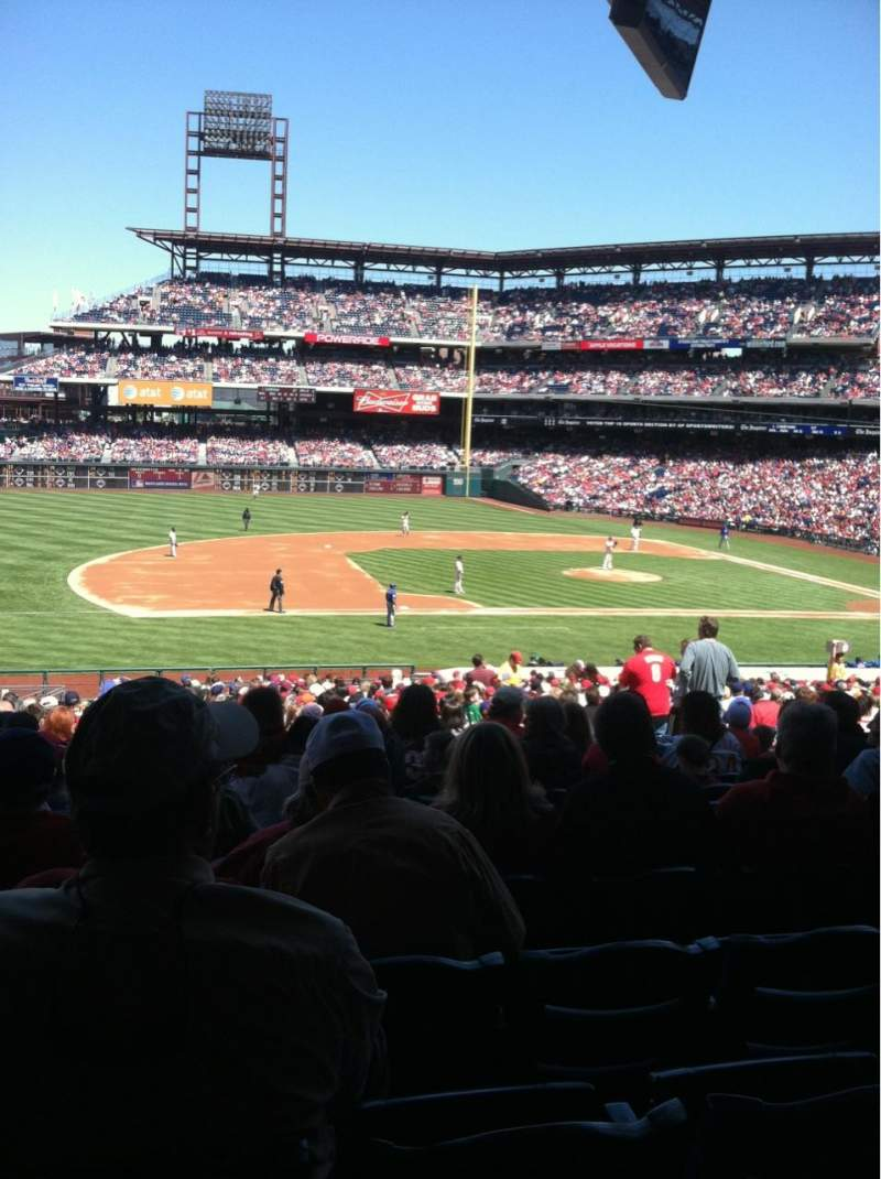 Seating view for Citizens Bank Park Section 132 Row 33 Seat 11