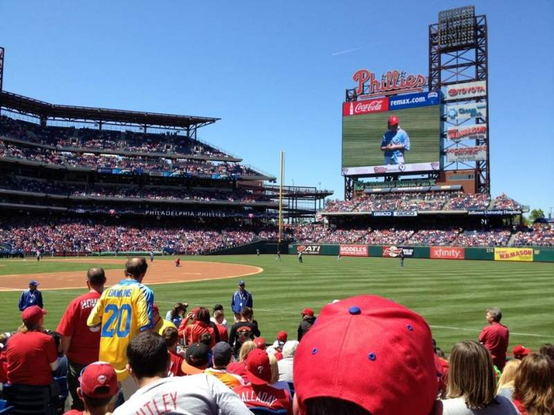 Seating view for Citizens Bank Park Section 111 Row 13 Seat 11