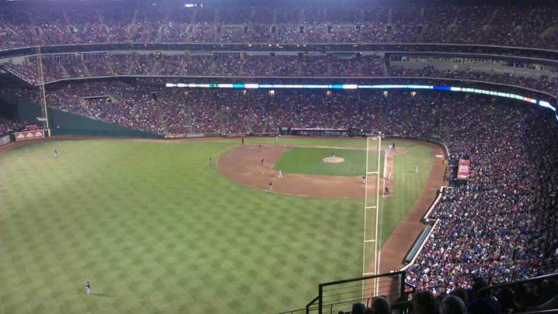 Seating view for Globe Life Park in Arlington Section 306 Row 21 Seat 18
