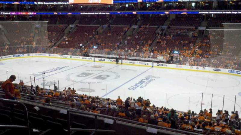 Seating view for Wells Fargo Center Section Club Box 15 Row 7 Seat 13