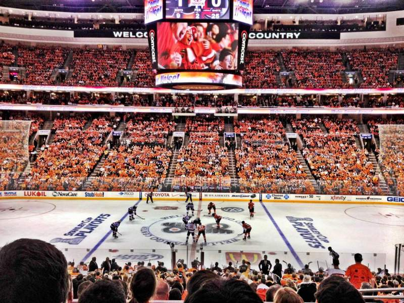 Seating view for Wells Fargo Center Section Club Box 1 Row 4 Seat 9