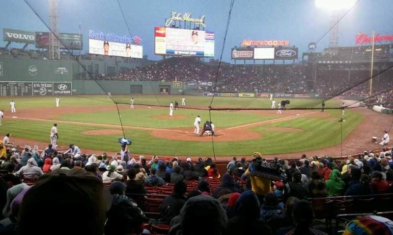 Seating view for Fenway Park Section Loge Box 133 Row H Seat 4