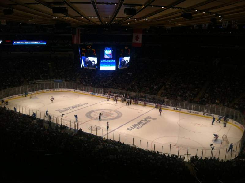 Madison Square Garden, section: 402, row: B, seat: 5
