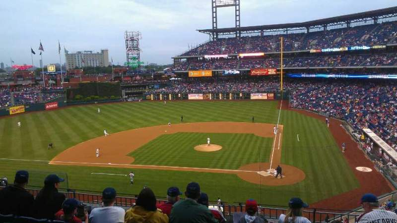 Seating view for Citizens Bank Park Section 226 Row 6 Seat 3
