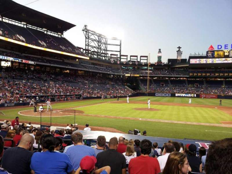 Seating view for Turner Field Section 109 Row 16 Seat 5
