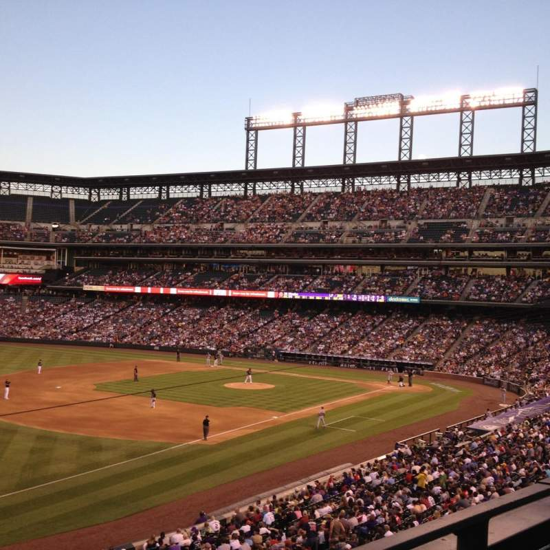 Seating view for Coors Field Section 245 Row 1 Seat 12