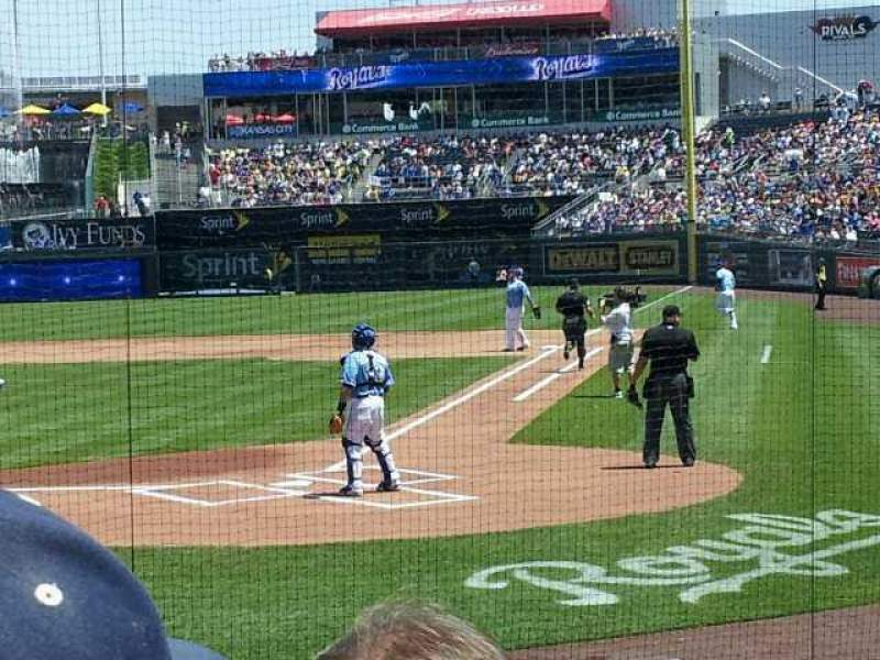 Seating view for Kauffman Stadium Section 125 Row G Seat 9