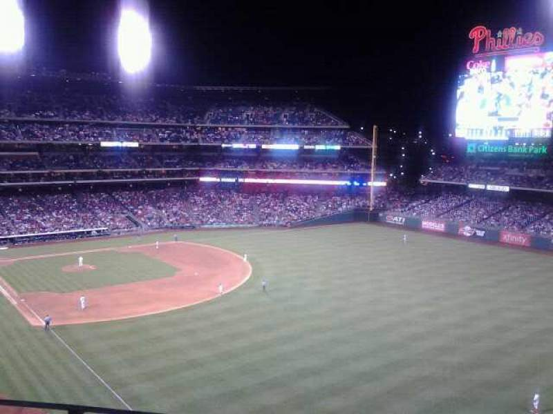 Seating view for Citizens Bank Park Section 307 Row 2 Seat 19
