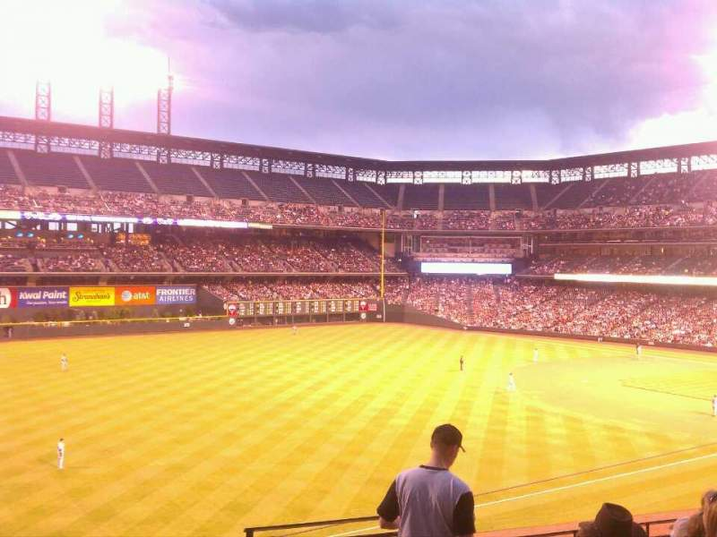Seating view for Coors Field Section 247 Row 6 Seat 1