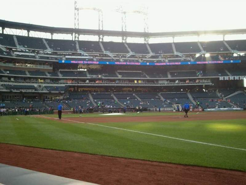 Seating view for Citi Field Section 109 Row A Seat 9