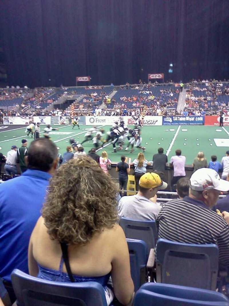 Seating view for Alamodome Section 101 Row 5 Seat 16