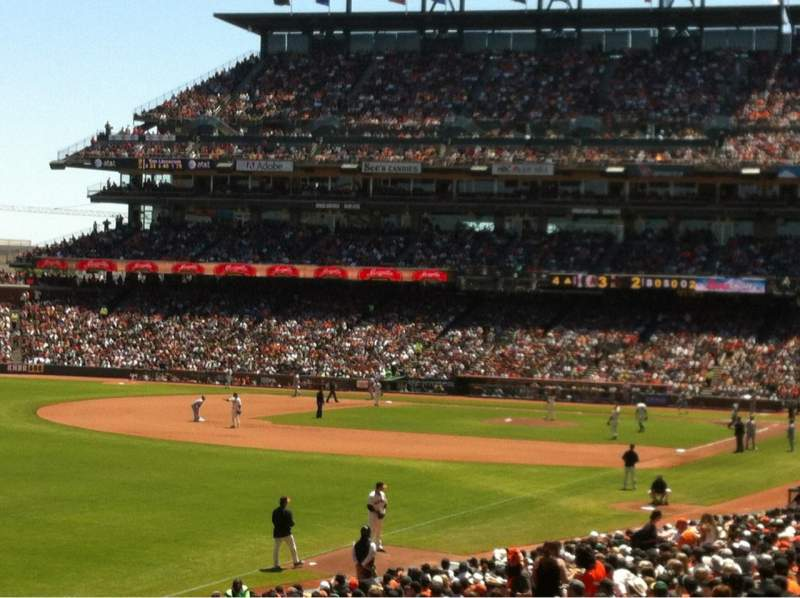 Seating view for AT&T Park Section 134 Row 33 Seat 3