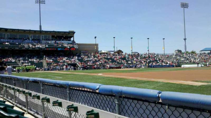Seating view for Coca-Cola Park Section 105 Row B Seat 18