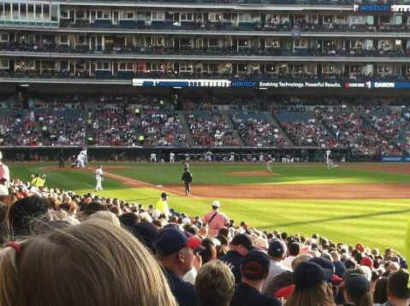 Seating view for Progressive Field Section 119 Row BB Seat 1
