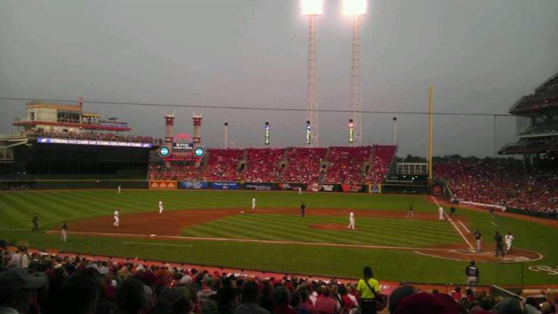 Seating view for Great American Ball Park Section 119 Row FF Seat 15
