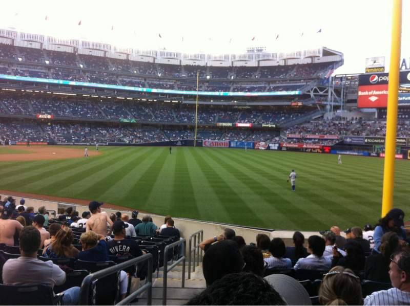 Seating view for Yankee Stadium Section 108 Row 20 Seat 14