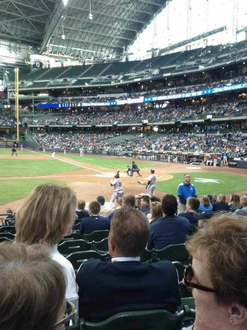 Seating view for Miller Park Section 121 Row 12 Seat 6