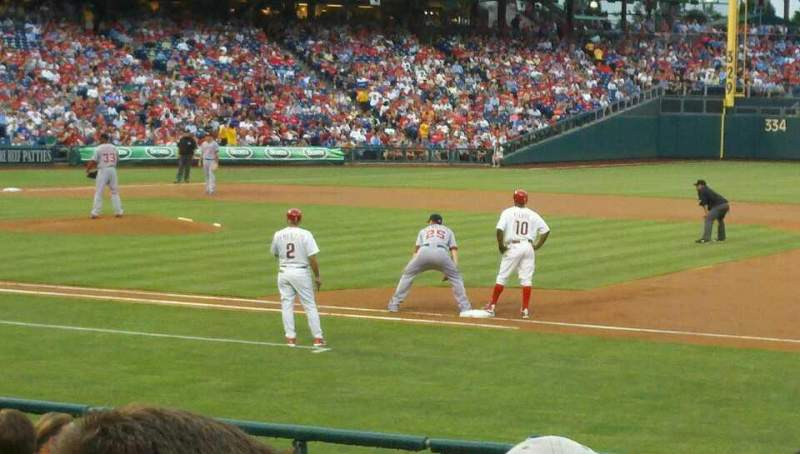 Seating view for Citizens Bank Park Section 115 Row 14 Seat 1