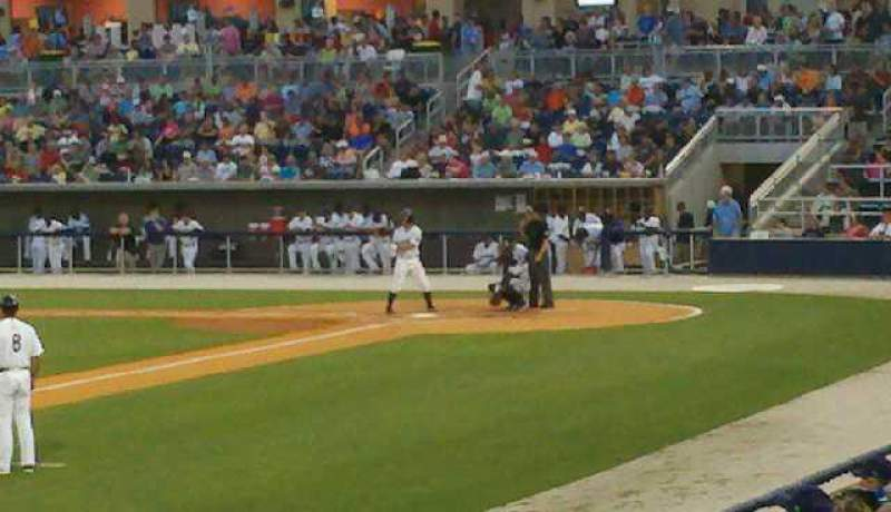 Seating view for Blue Wahoos Stadium Section 111 Row I Seat 15