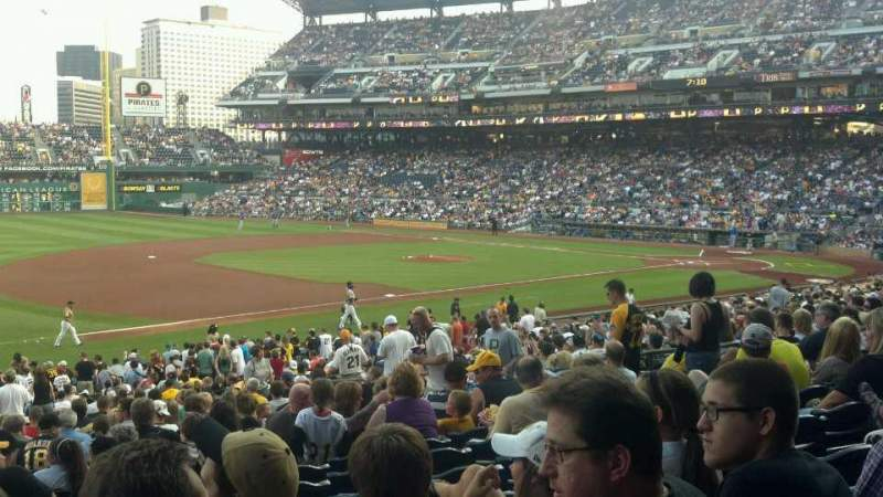 Seating view for PNC Park Section 127 Row v Seat 15