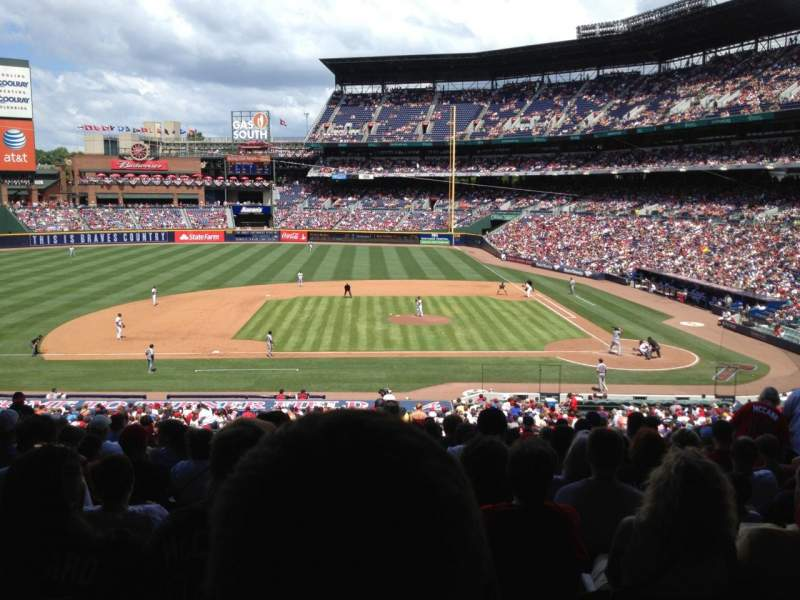 Seating view for Turner Field Section 216 Row 13 Seat 12
