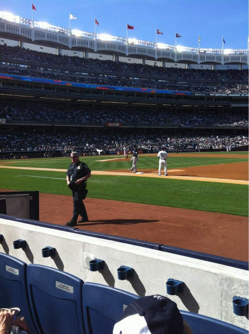Seating view for yankee stadium Section 014B Row 1