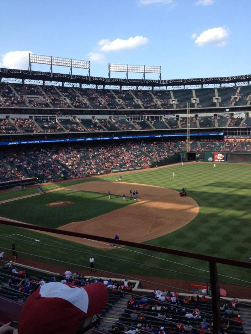 Seating view for Globe Life Park in Arlington Section 237 Row 2 Seat 10