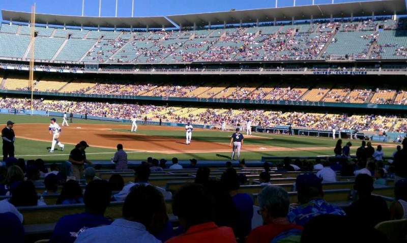 Seating view for Dodger Stadium Section 33FD Row E Seat 5
