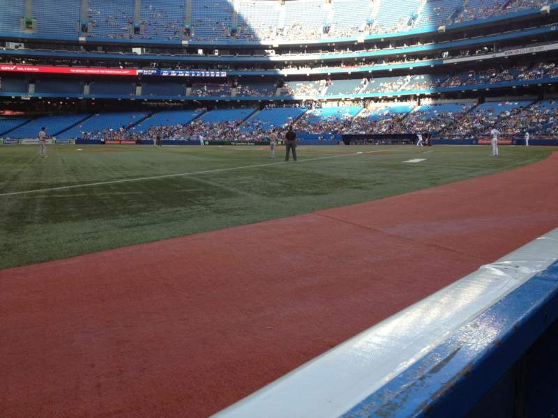 Seating view for Rogers Centre Section 130B Row 1 Seat 4