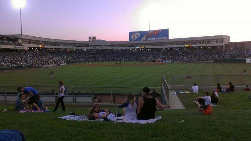 Seating view for Raley Field Section grass Row open seat