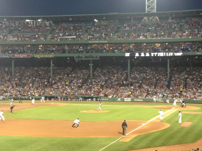 Seating view for Fenway Park Section Grandstand 32 Row 7 Seat 9